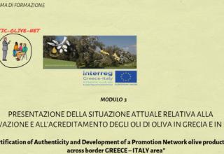 Modulo 3: Presentazione della Situazione Attuare Relativa alla Coltivazione e all' Acreditamento Degli Oli Di Olivia in Grecia e in Italia